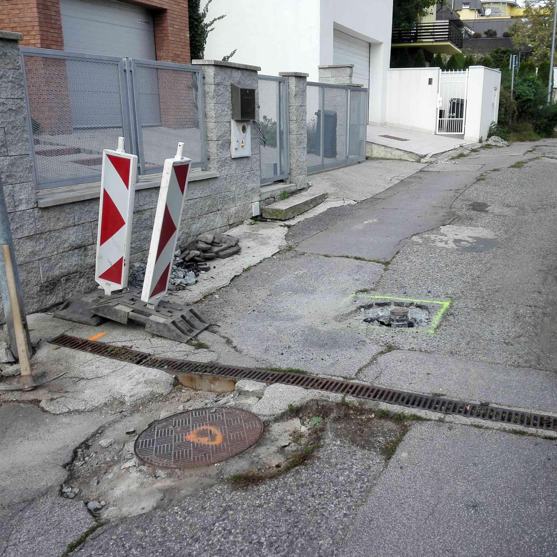 Oznam o neprejazdnosti ulice Pod Rovnicami