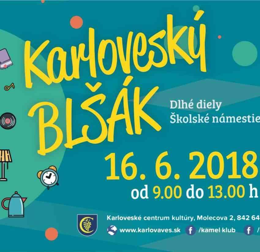 """V sobotu 16. júna sa uskutoční Karloveský """"blšák"""""""
